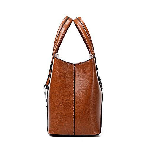 Lady di Pelle cera Bag Single Trend versione Crossed coreana Shoulder Orange Oil Circlefly Oblique Cucitura BqFwfWxH1q
