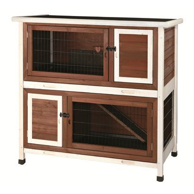 Natura 2 Story Small Animal Hutch Color: Brown / White