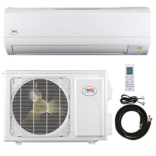 YMGI 24,000 Btu 16 SEER Ductless Mini Split DC Inverter Air Conditioner Heat Pump System - 208-230 Volt with Free 25 Feet Installation Kit ...