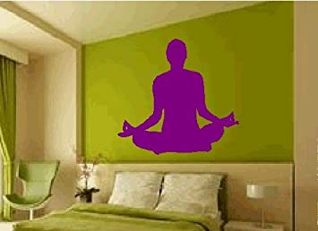 Yoga Wall Decal Sticker Graphic Art Asana Chakra Mantra Om Shanti Yogi Mudra Chant Being Present