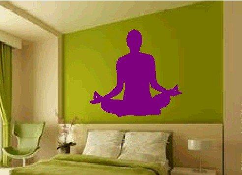 Yoga Wall Decal Sticker Graphic Art Asana Chakra Mantra Om Shanti Yogi Mudra Chant Being Present ()