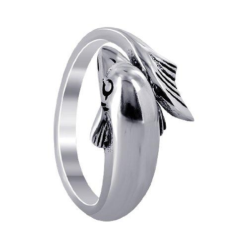Gem Avenue 925 Sterling Silver Wrap-Around Dolphin Design (Wrap Around Dolphin)