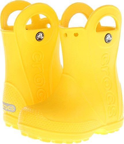 Crocs Kids Handle It Rain Boots, Easy On for Toddlers, Boys, Girls, Lightweight and Waterproof,Yellow, 6 M US Toddler