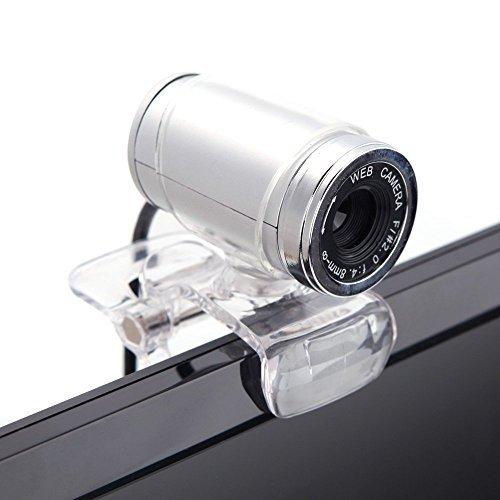 Cimkiz USB 2.0 HD Webcam,Web Cam with MIC Clip-on 360 Degree for Desktop Skype Computer PC Laptop Transparent