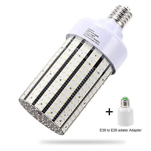 100W LED Corn cob Light Bulb, Large Mogul Base E39 LED Bulbs,5000K Daylight AC110-277V,LED Replacement 400W Metal Halide HID HPS for steet Area Warehouse Parking lot High Bay Canopy shoebox Fixture