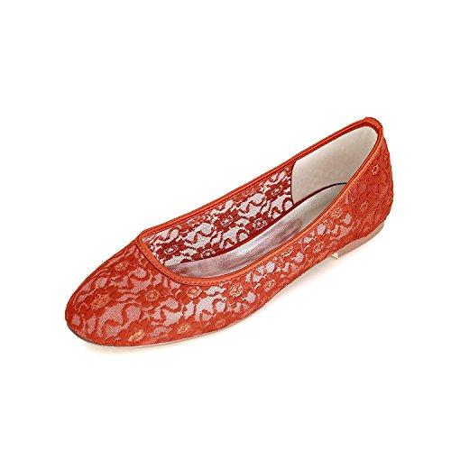 Automne Mariage SoiréE Femmes Chaussures L amp; Mariage Dentelle ÉTé Yards De Printemps red Plates Multi pour Grands YC Chaussures Couleur qxtfv