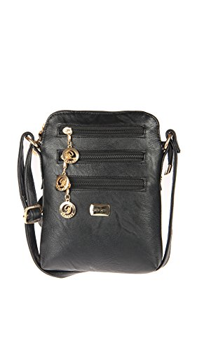 Deal Especial Fancy Nuevo look desginer Elegante mujeres y muchachas sling bolsa regalos Black