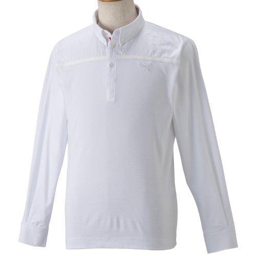 北へ切り離す自伝(プーマゴルフ)PUMA GOLF ゴルフ L/S ボタンダウンシャツ