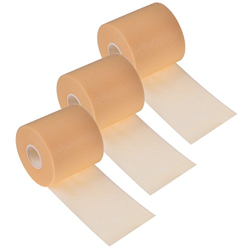 BBTO 3 Pieces Foam Underwrap Sports Pre-wrap Athletic Tape, 2.75 Inch by 30 Yards (Beige) (Underwrap Wrap)