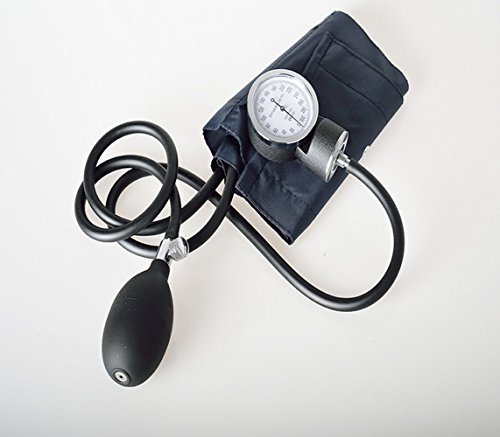 Manual Adult Size Deluxe Aneroid Sphygmomanometer - Professional Blood Pressure BP Monitor with Adult Cuff Set Sphygmomanometer Stethoscope Kit and Carrying Zipper case FDA by None (Image #1)