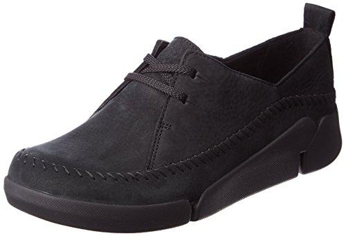 Clarks Tri Angel, Women's Low-Top Sneakers, Black (black Combi Lea), 6 UK (39.5 EU)