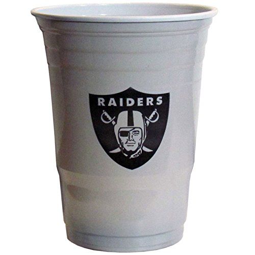 Siskiyou NFL Oakland Raiders Plastic Game Day Cups 2 Sleeves of 18 (36 Cups) ()