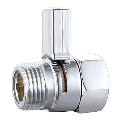BTSKY™ New Solid Brass Brushed Shower Head Shut-off Bidet Control Valve (Chrome Swith)