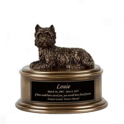 Perfect Memorials Custom Engraved West Highland Terrier Figurine Cremation - Figurine West Highland Terrier Dog