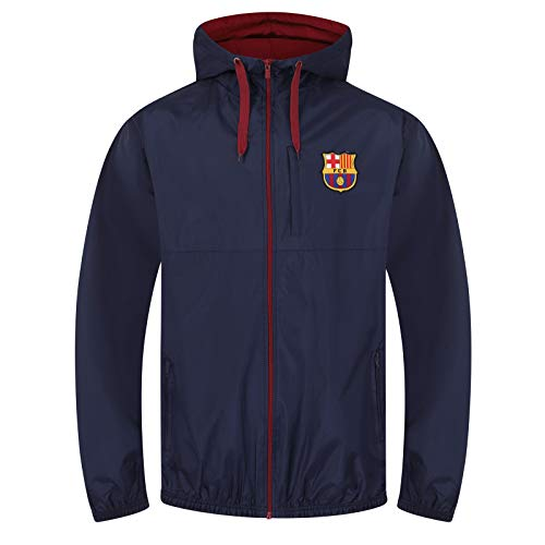 a2f49c51e5a FC Barcelona Official Football Gift Mens Shower Jacket Windbreaker Large