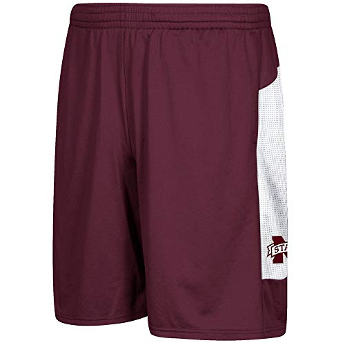 adidas Mississippi State Bulldogs NCAA Men's Climalite 2017 Sideline Player Maroon Shorts ()