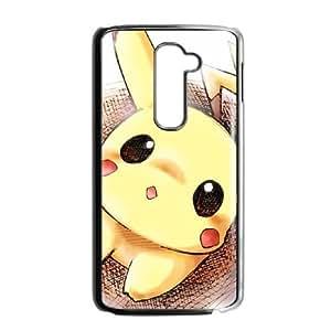 LG G2 Cell Phone Case Black Pikachu HQR Unique Personalized Case