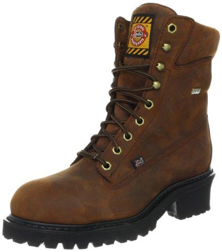 Justin Logger Boots (Justin Original Work Boots Mahogany Harness Gore-Tex Steel/Toe Logger Boots,Mahogany Harness,7 D US)