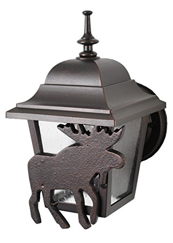 (Melissa Lighting MS1739 Animals/Insects Outdoor Wall Mount from Moose Series Collection in Bronze/Darkfinish)