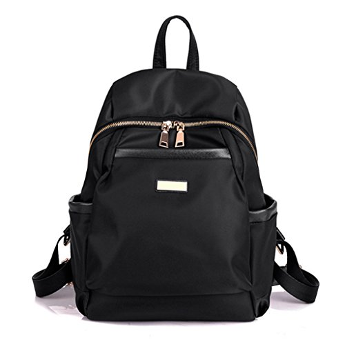Sucastle Beiläufige Retro europäische Multifunktionsmänner Damen-Tasche Nylon schwarz 35x25x13cm