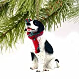 Pointer Miniature Dog Ornament - Black & White