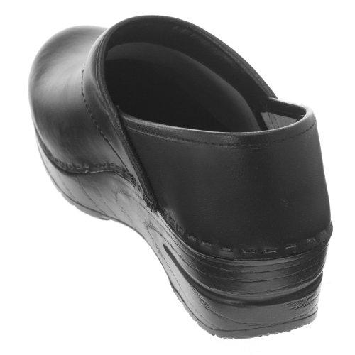 Dansko Mens Professionell Skrin Läder Täppa Svart Låda Läder