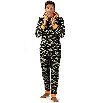 ffe59f9c675d8 ONEZEE Grenouillère Adulte Homme Polaire- Pyjama -Motif Camouflage ...