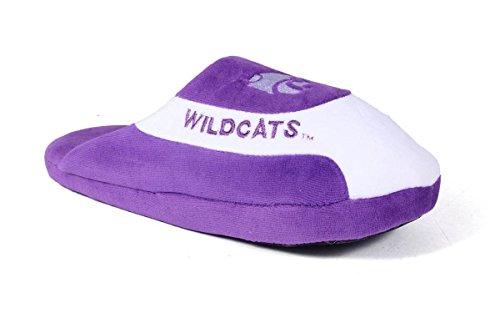 KSU07-2 - Kansas State Wildcats - Medium - Happy Feet Mens and Womens - NCAA Low Pro Slippers