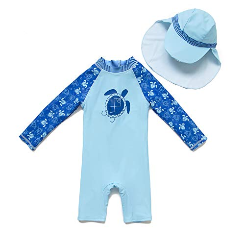 addceeca221 SUNOUTLET Kids Boy s UPF 50+ Sun Protection L S One Piece Zip