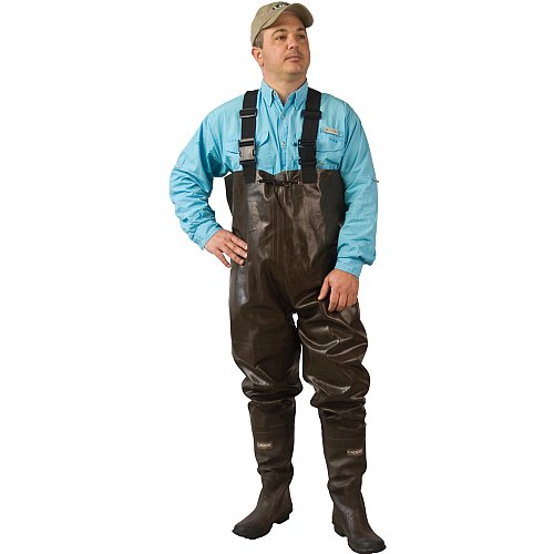 Caddis Men's 2 Ply Rubber Chest Wader, 8