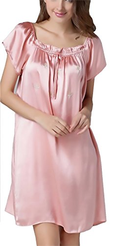 iF Silk, 100% Pure Mulberry Silk Nightgown Classic Nightwear Sleepwear perfect gift