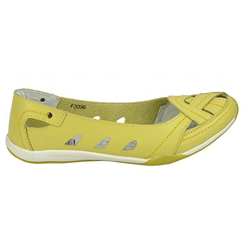 Kick Footwear Ladies comfortable cushion walk shoes Zitrone