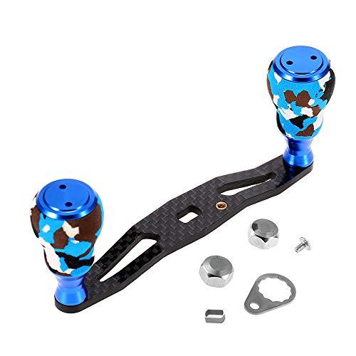 (Lixada Carbon Fiber Fishing Reel Handle Baitcasting Trolling Reel Rocker Left Right Fishing Reel Crank Accessory)