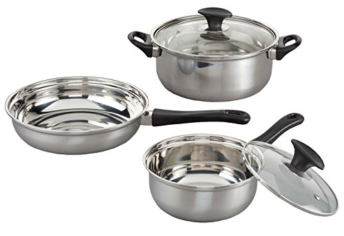 Pc Stainless Steel Cookware Set