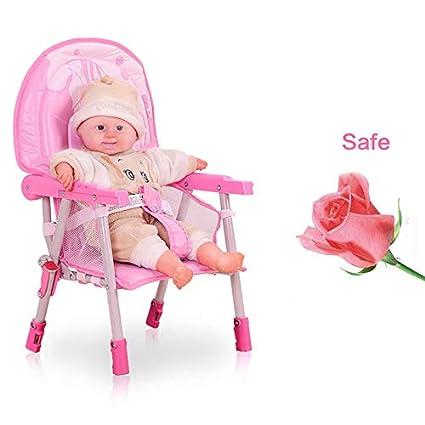 WUPYI2018 Baby Kinderhochstuhl,Klappbar Babyhochstuhl mit Tablett,H/öhenverstellbar Blau