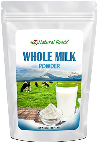 Powdered Whole Milk – Shelf Stable Dry Milk Powder – Dried For Emergency Long Term Food Storage – Great For Cooking, Baking, Cereal, Coffee, & Tea – Non GMO & Gluten Free – 1 lb