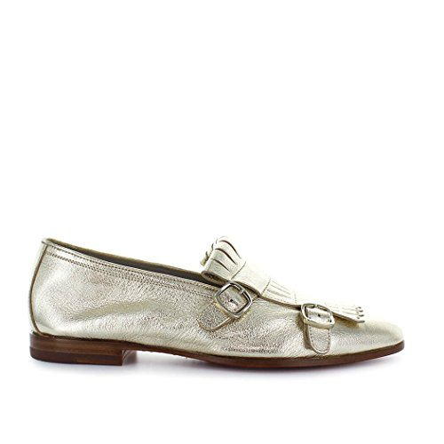 Santoni Loafer Women's Summer Double Shoes buckle Gold 2018 Spring gg7raw