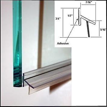 Shower Door Drip Rail w/ VHB Tape - 30\u0026quot; ...