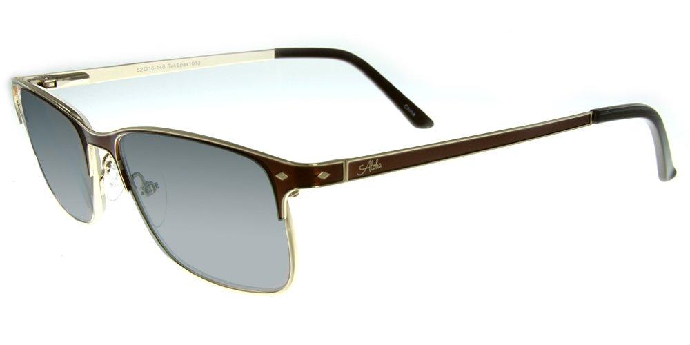 Aloha Eyewear Tek Spex 1013 Unisex RX-Able Reader Sunglasses with Progressive Polarized Lens (Demi Clear +2.00)