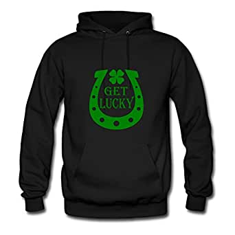 Get Lucky Creative X-large Sweatshirts Women Cotton For Black