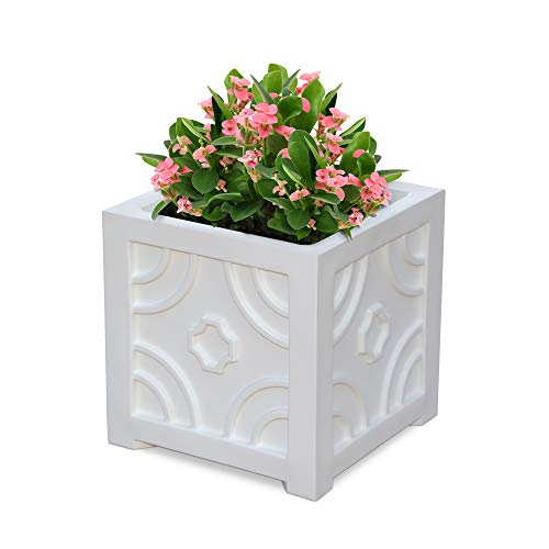 atio Planter, 16 by 16-Inch, White ()