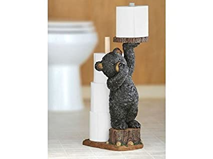 The Funny Toilet Paper Holder Bear Amazon Co Uk Kitchen Home