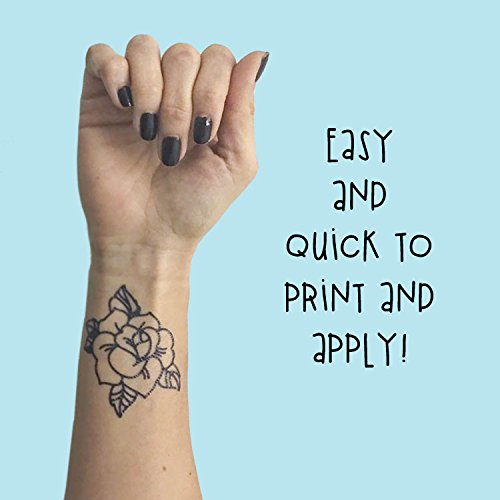 graphic relating to Printable Tattoos Paper referred to as clean Tattify Do-it-yourself Short-term Tattoo Paper 1 Pack For Laser