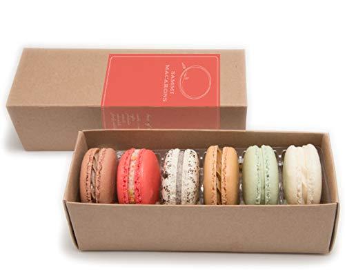 Sammi Macarons - 6 Macaron Handmade Fresh to Order - French Macarons Assorted Flavor sample pack - Perfect Gifting Set