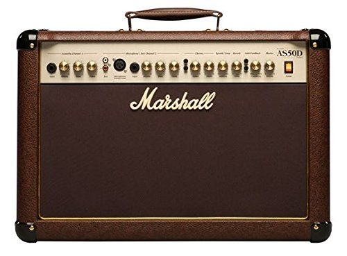 - Marshall Acoustic Soloist AS50D 50 Watt Acoustic Guitar Amplifier with 2 Channels, Digital Chorus and Reverb