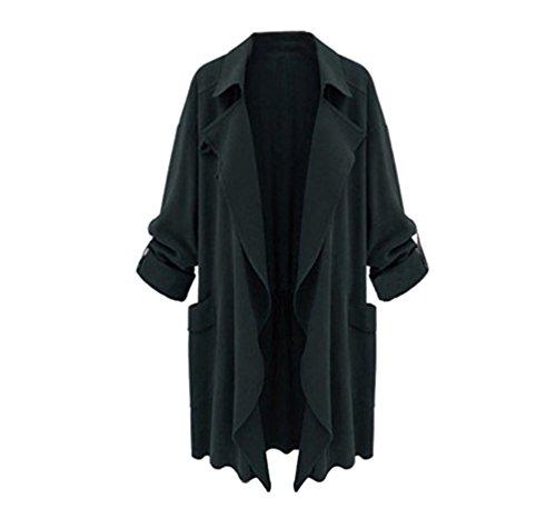 Manteau Grande ZKOO Automne Et D Femme Taille Coat Printemps Trench xqA8Inqr