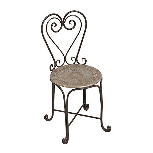 Cape Craftsmen Medallion Bistro Outdoor Safe Iron Chairs, Set of 2