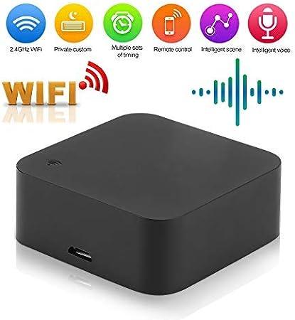 Kafuty Control Remoto por Infrarrojos IR Inteligente de 2.4GHz WiFi para el Asistente de Inicio de Google, TV de Control, Ventiladores, acondicionadores de Aire y electrodomésticos