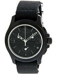 Black Dial Black Textile Chronograph Male Watch 241534