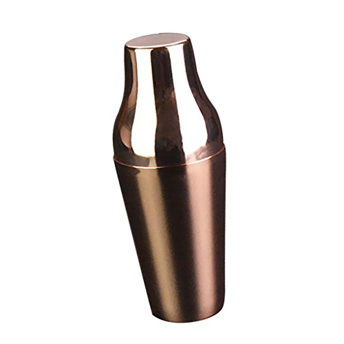 Jili Online 4 Types Cocktail Shaker Mixer Drink Bartender Alcohol Party Bar for Martini/Boston - Rose Gold, 650mL by Jili Online